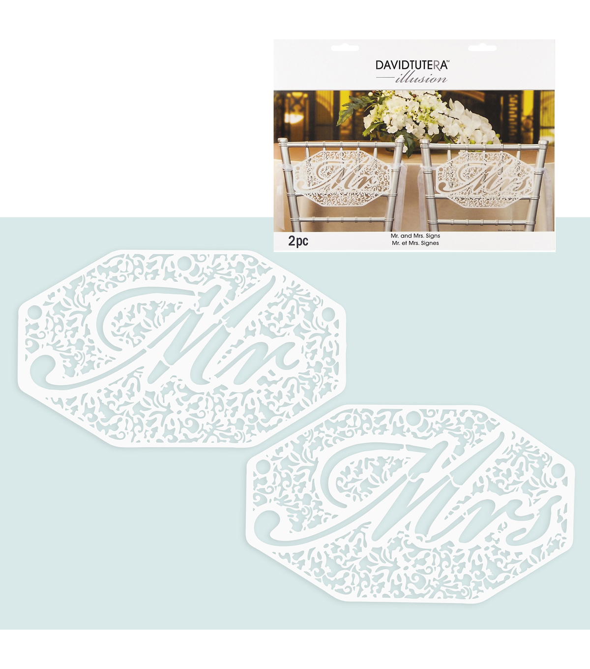 Mr And Mrs Diecut Signs