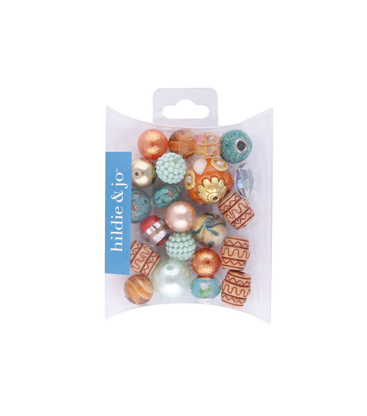 hildie & jo Mix Beads-Orange & Turquoise