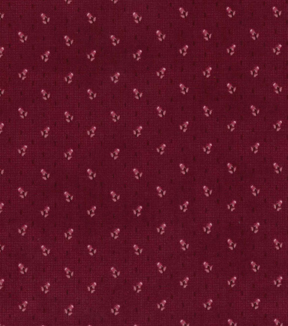 Vintage Cotton Fabric 43\u0022-Raindrop Floral Red