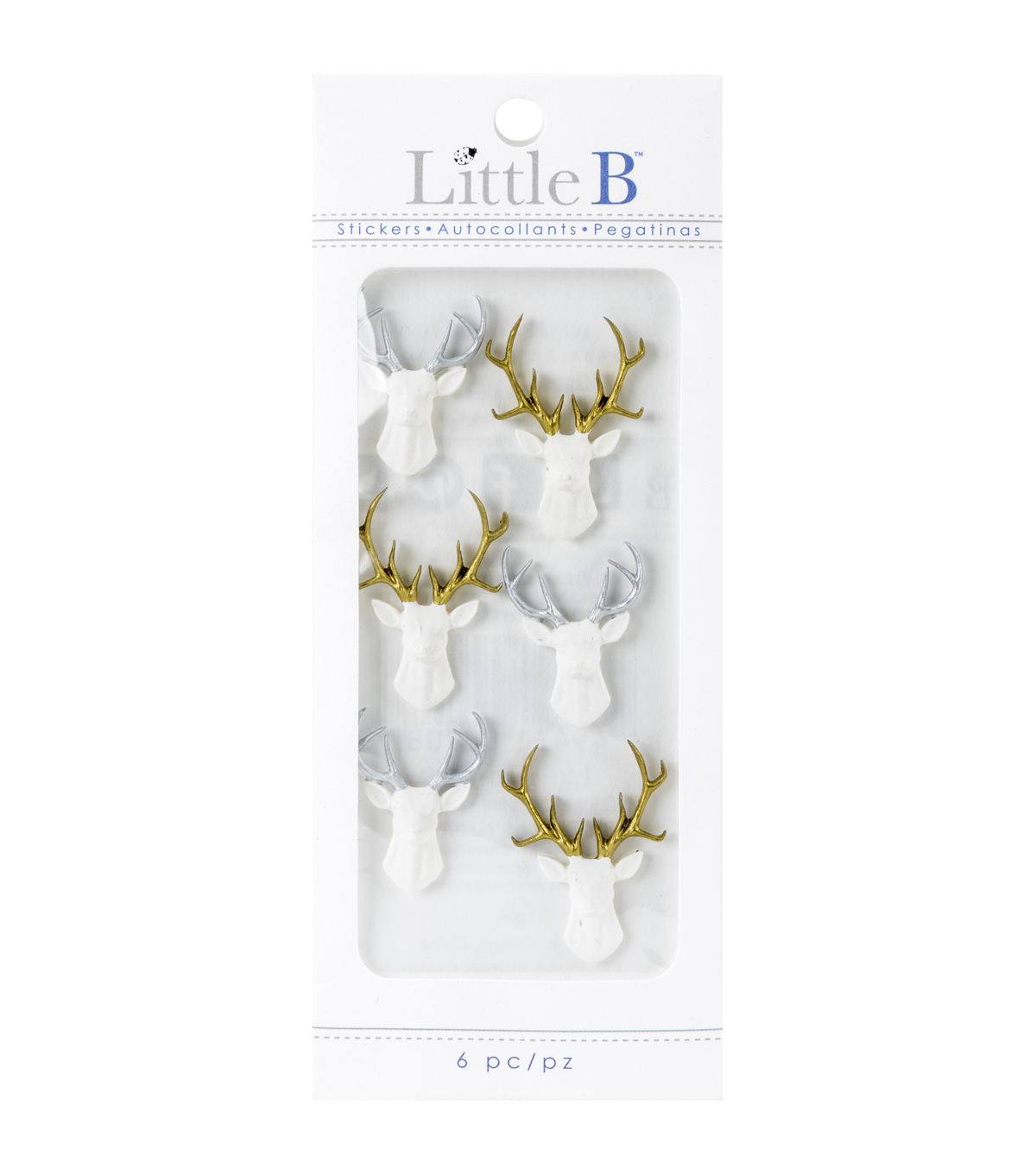 Little B Mini Stickers-White Stags