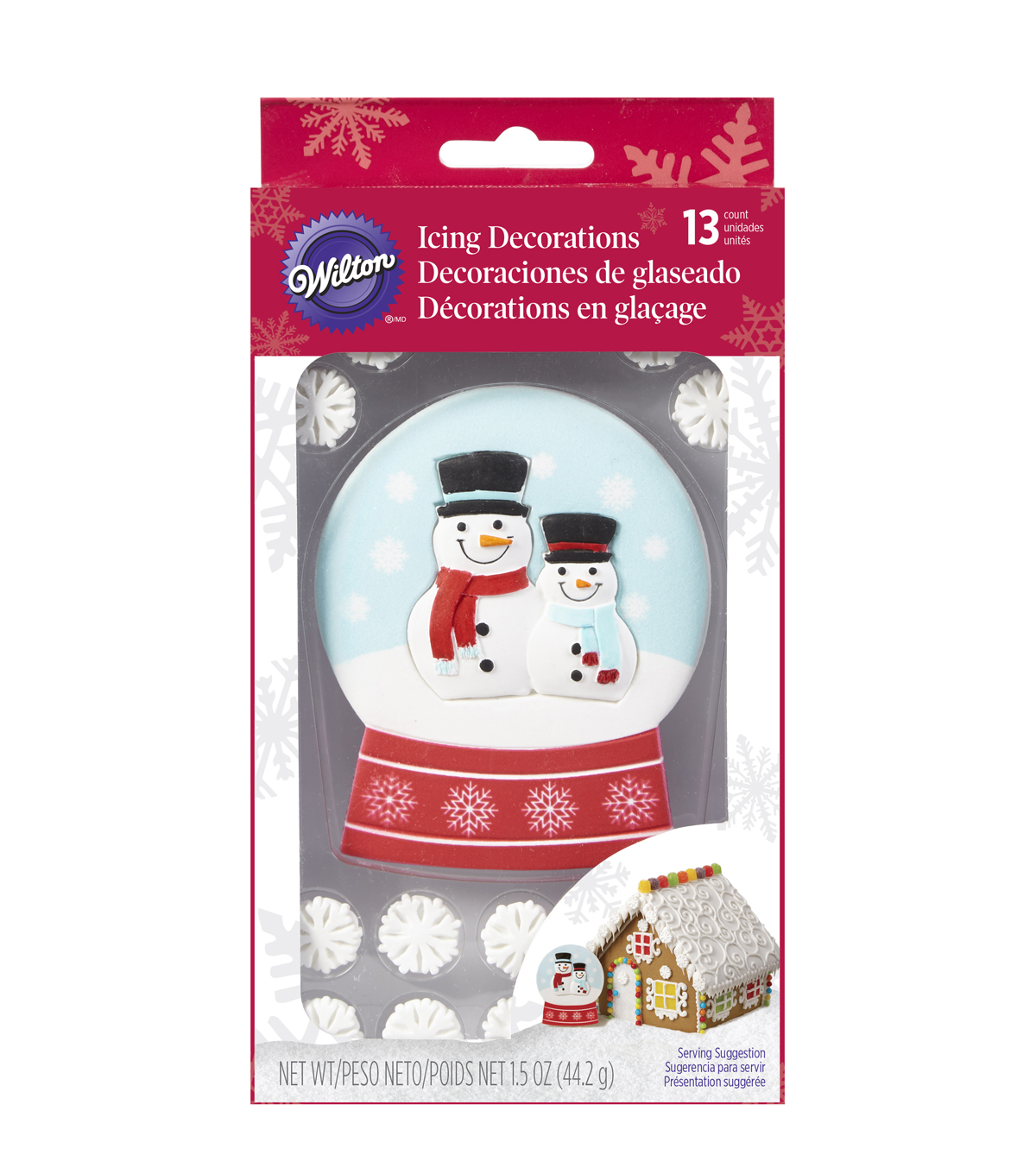 Wilton® Christmas 13 pk Giant Snow Globe Icing Decorations