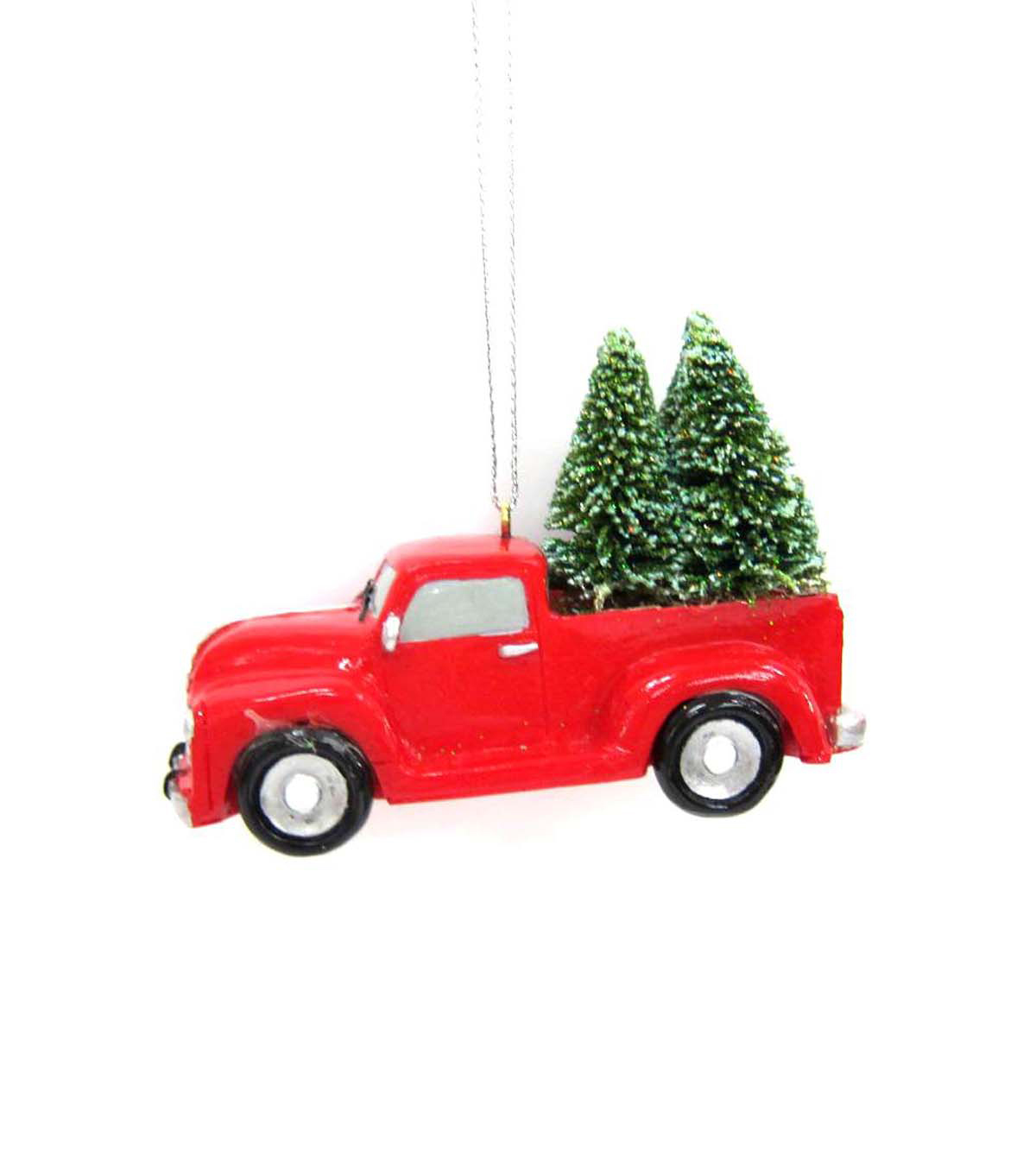 Maker's Holiday Resin Truck with Tree Ornament