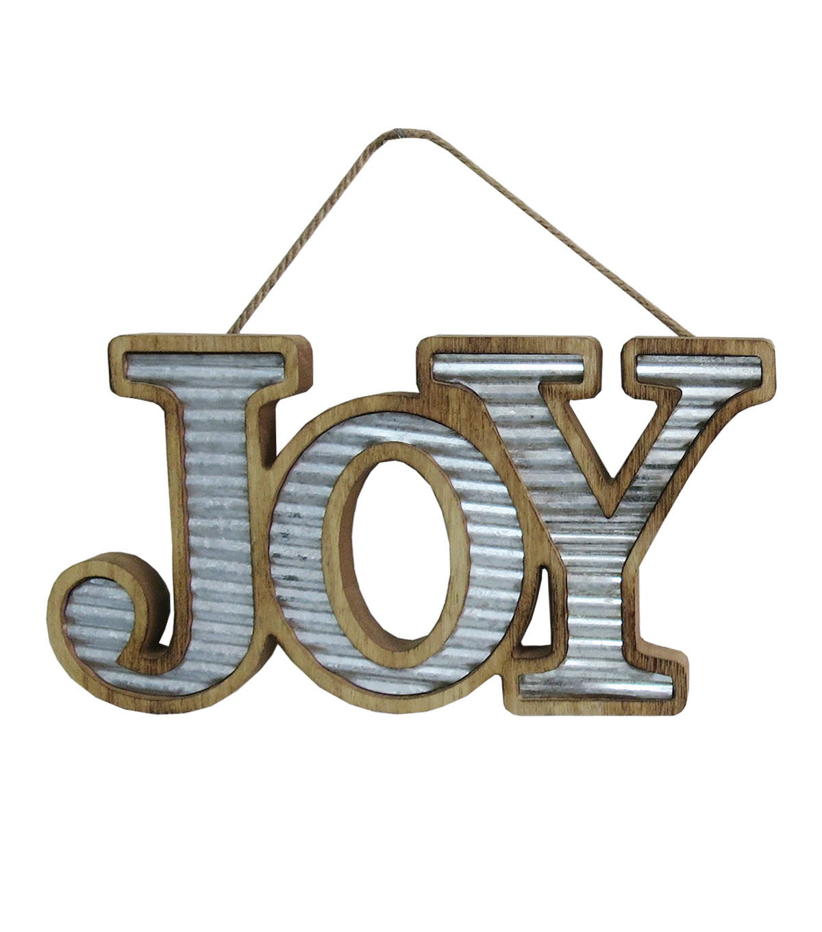 Maker\u0027s Holiday Christmas Wood & Metal Joy Wall Decor