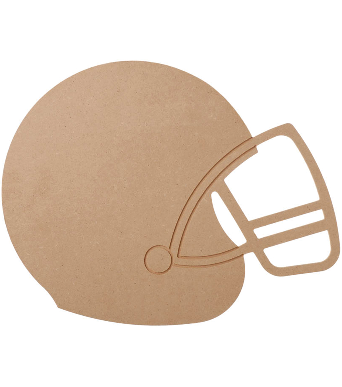 "MDF Wood Shape Football Helmet 9.1""x11.6"""