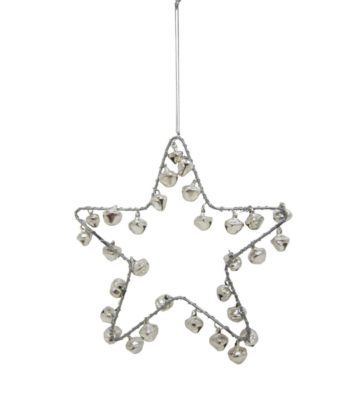 Maker's Holiday Christmas Arctic Frost Jingle Bell Star Ornament