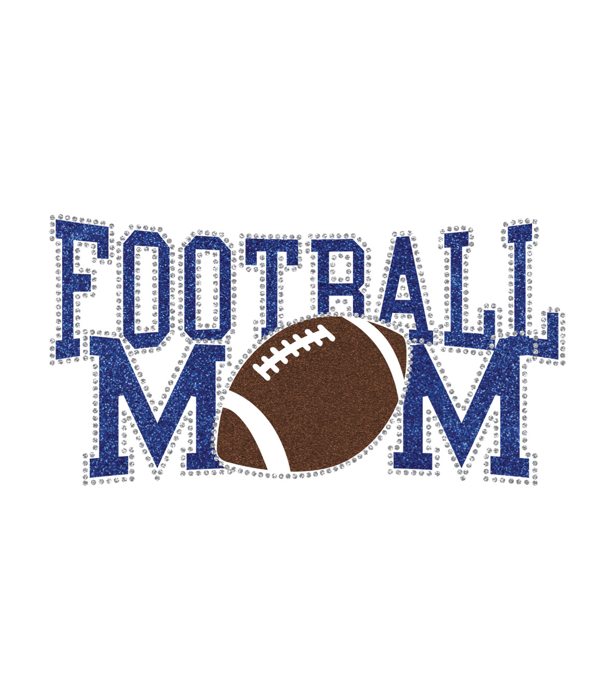 Plaid® Football Mom-Fashion District Sporty Glitter Iron-On Transfer