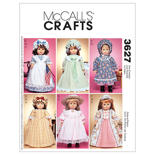 McCall\u0027s Crafts Doll Clothes-M3627