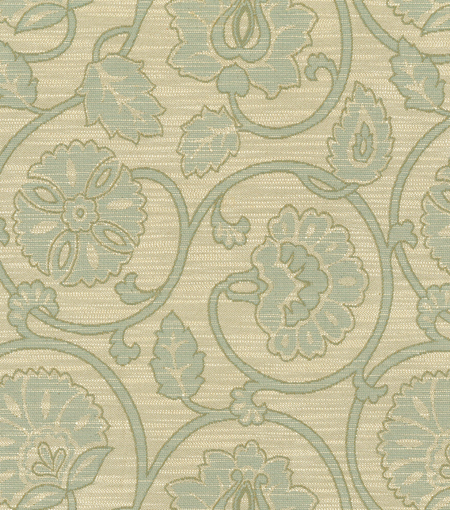 "Home Decor 8""x8"" Fabric Swatch-Waverly Siam Scroll Vapor"