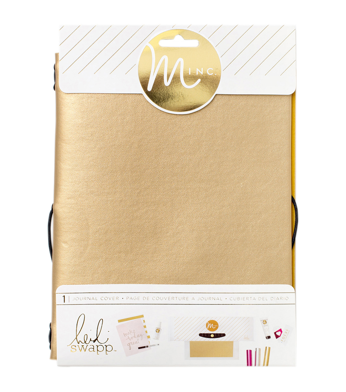 Heidi Swapp Minc Journal Cover 6\u0022X9\u0022-Gold Vinyl