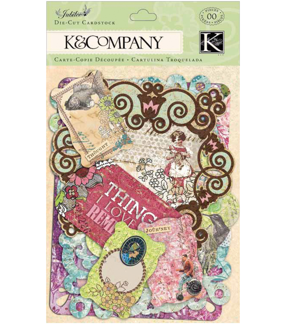 K & Company Cardstock Die Cuts Tags & Note Cards Jubilee