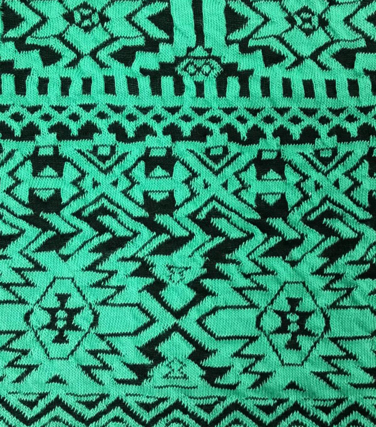 Southwest Small Aztec Dark Teal Polyester Spandex