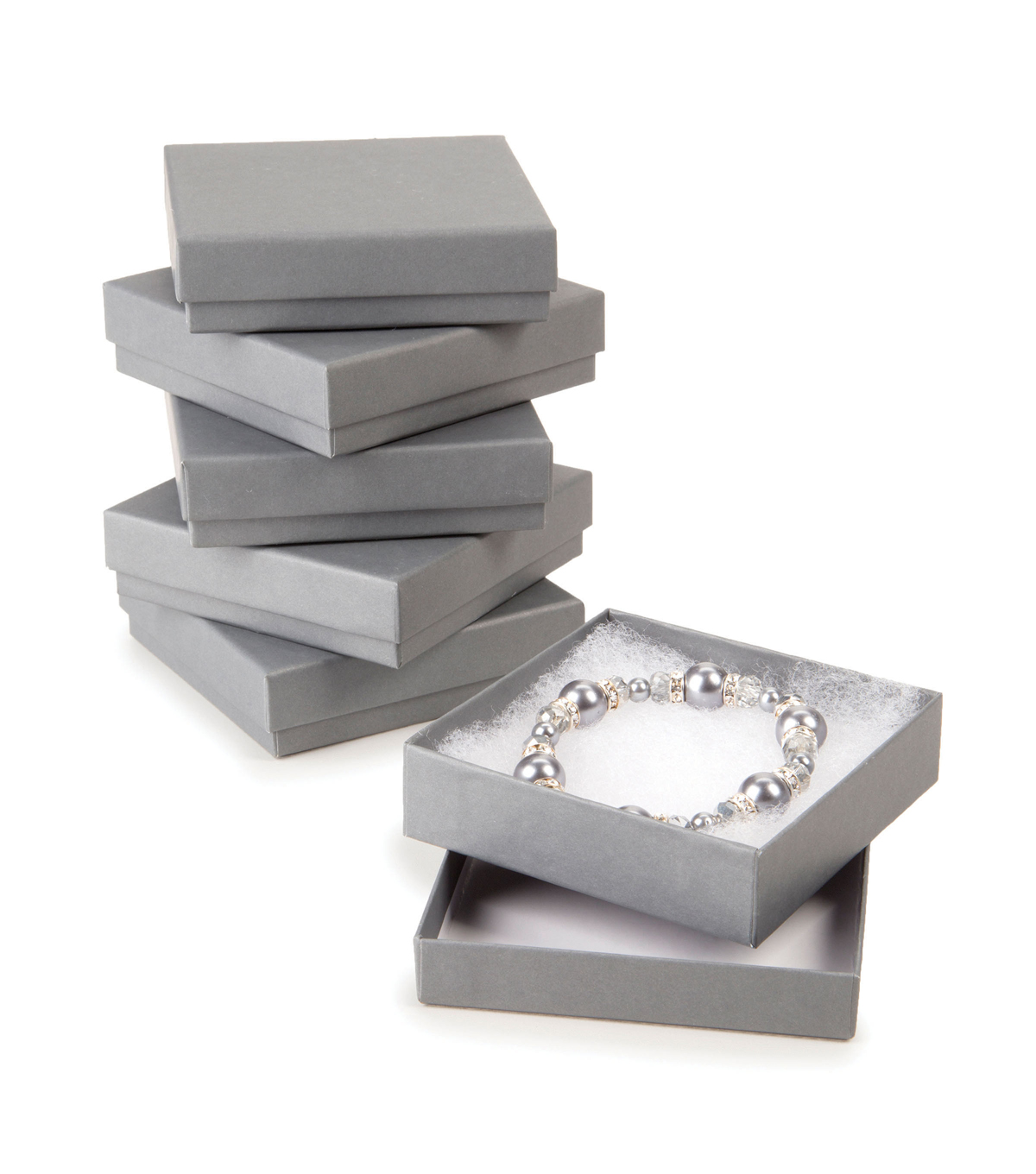 Jewelry Gift Boxes-Grey 6pk