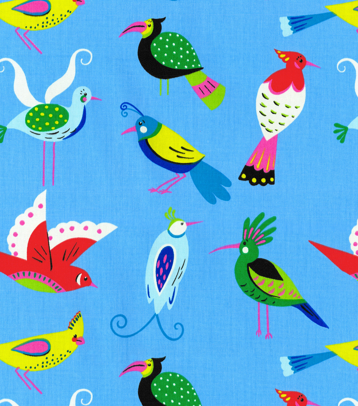 Waverly Print Fabric-For The Birds/Peacock