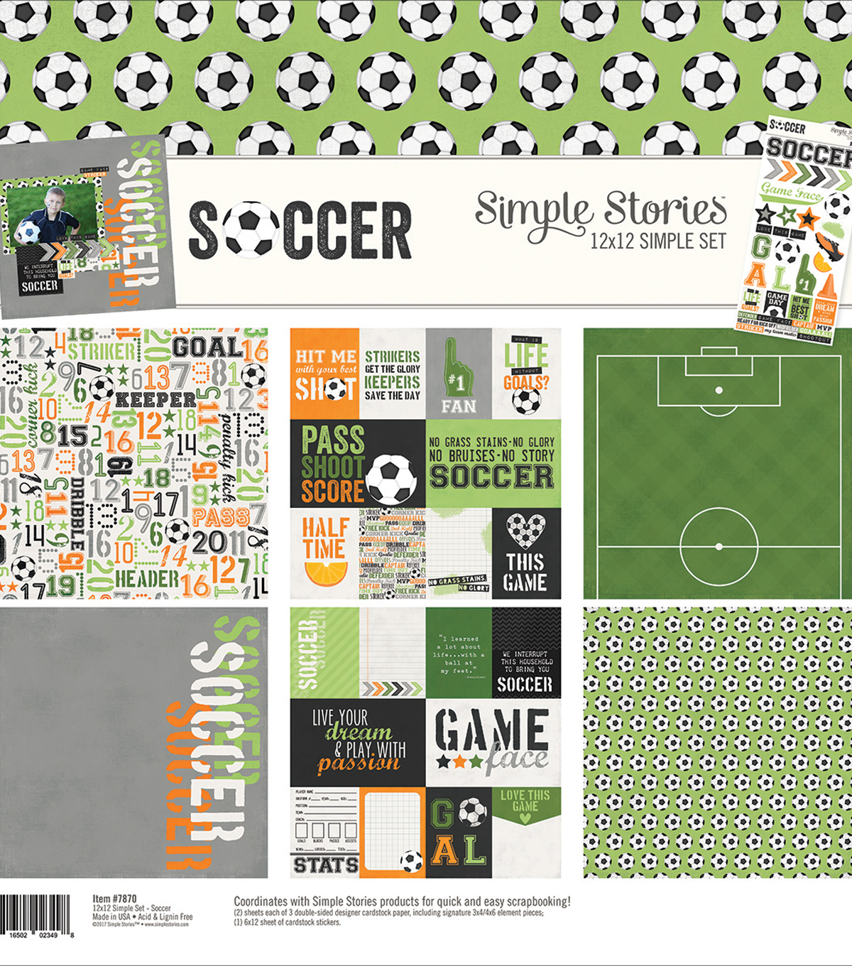 Simple Stories Simple Sets Collection Kit 12\u0022X12\u0022-Soccer