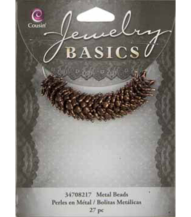 Jewelry Basics Metal Flower Caps 12mm 27/Pkg-Copper
