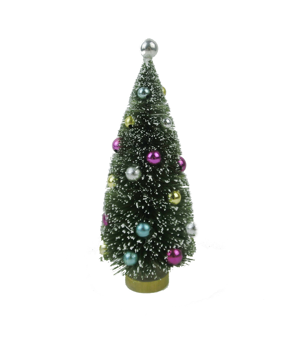 "Maker's Holiday Christmas 6"" Tree with Ornaments-Bright Colors"
