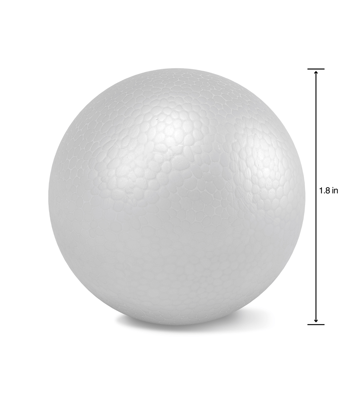Smooth Foam Balls 2\u0022 12/Pkg-White