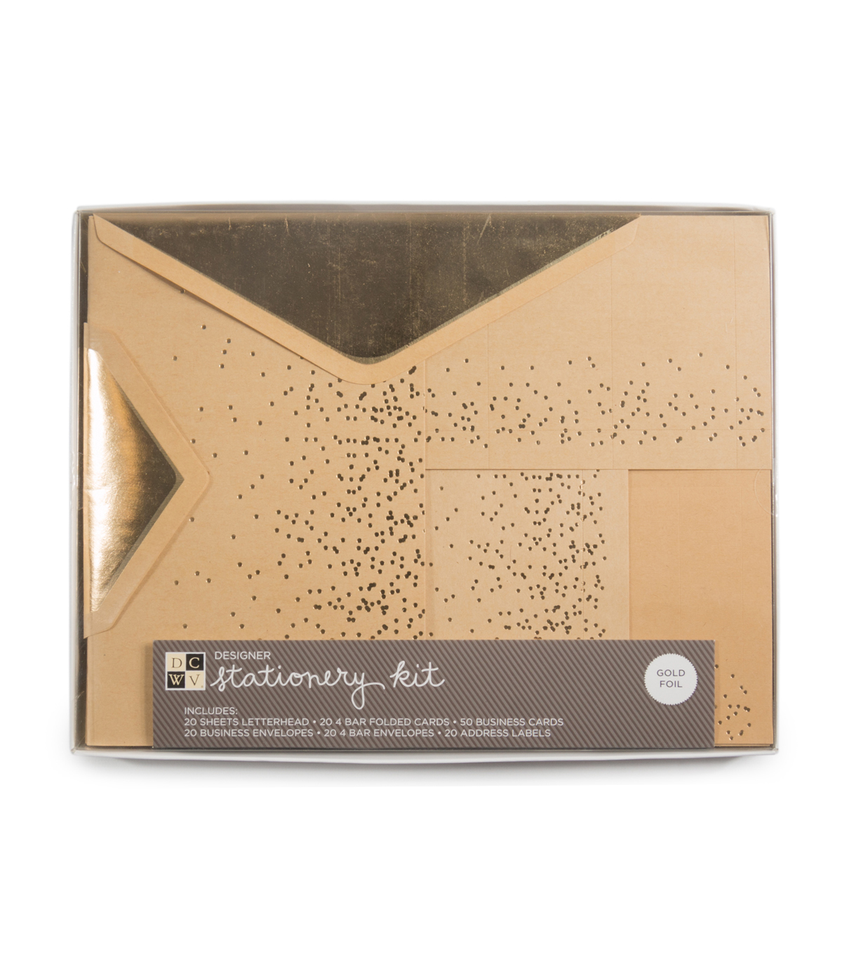 DCWV Stationery Kit: Gold dots