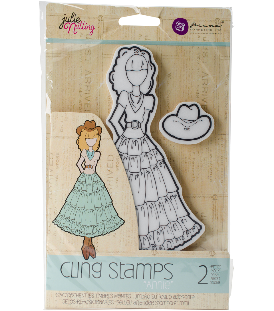 Mixed Media Cling Rubber Stamps-Annie