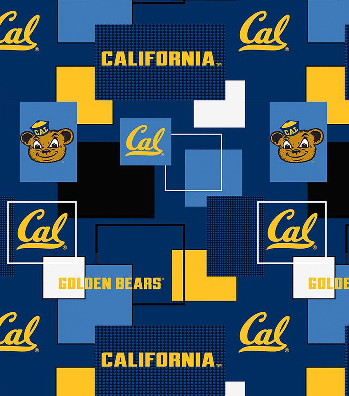 University of California Golden Bears Cotton Fabric 43''-Modern Block