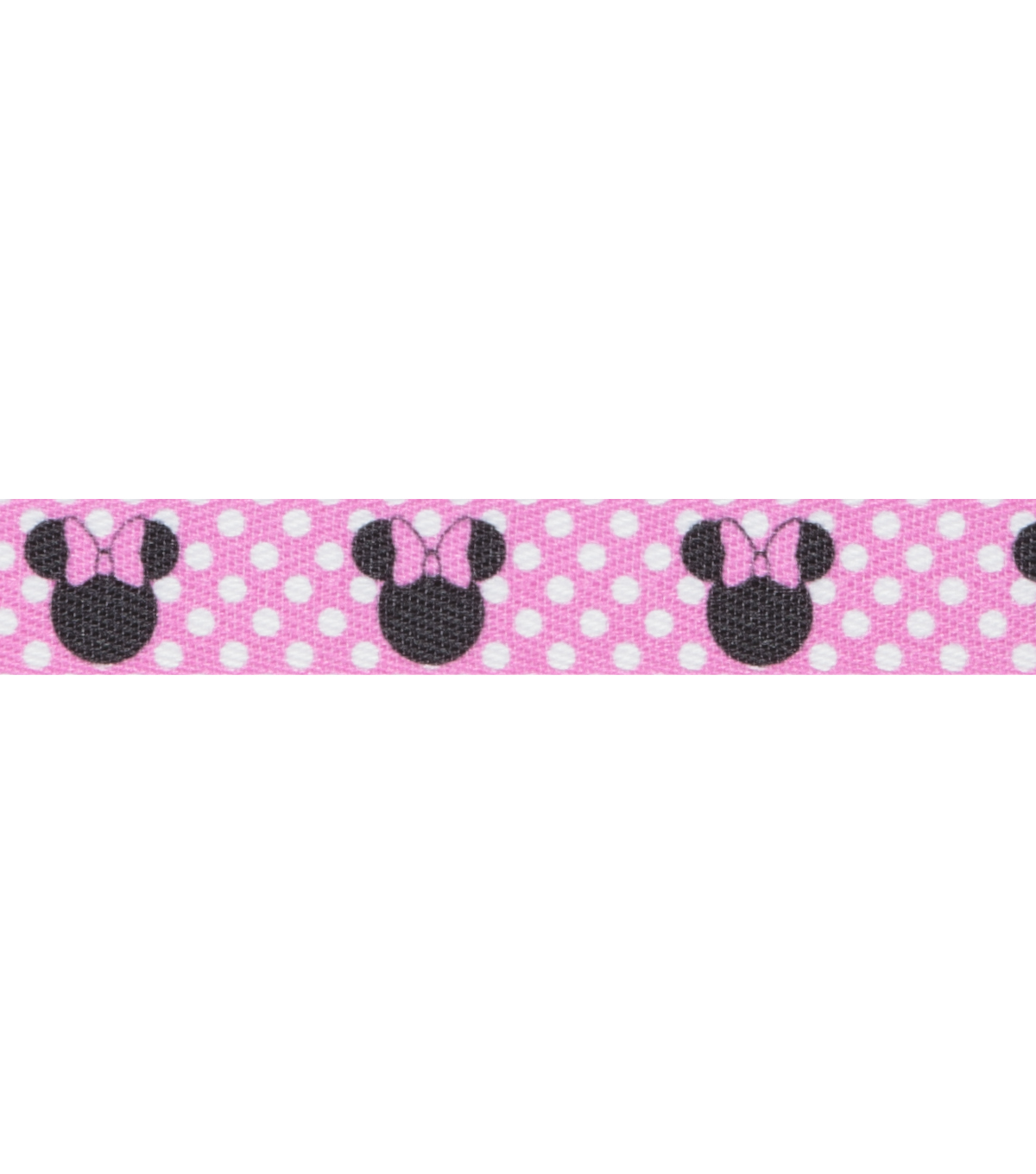 .5\u0022 Twill Mickey Mouse Minnie Printed Ear 9Ft Pink & White Apparel Trim