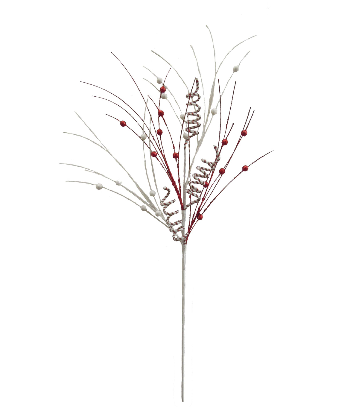 Blooming Holiday 30\u0027\u0027 Curly Twig & Berry Spray-Red & White