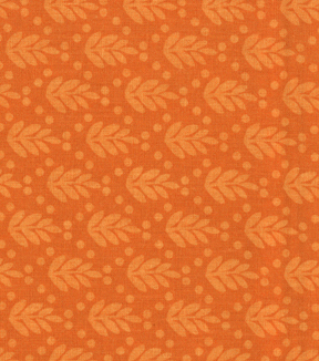 Made in the USA Harvest Fabric-Leaves Tonal Orange