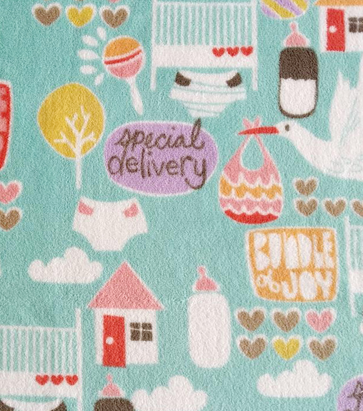 "Ultra Fluffy Fleece Fabric 58""-Special Delivery"