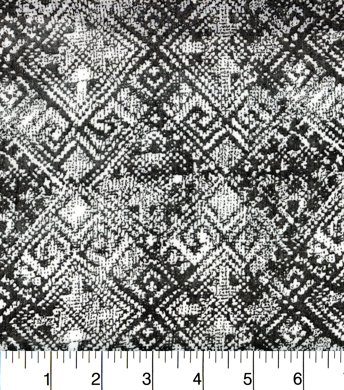 Earth Child Cotton Feel Apparel Fabric with Pom Pom 44\u0027\u0027-Diamond Print