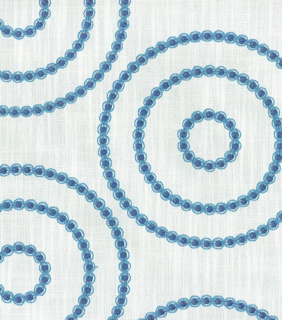 "Home Decor 8""x8"" Swatch Fabric-Waverly Sherborne Emb Sapphire"
