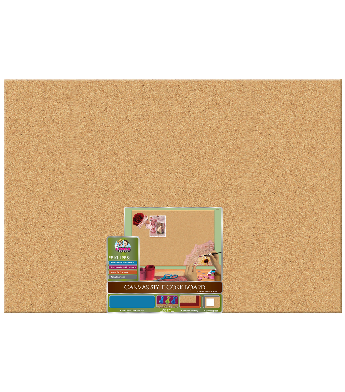 Uncategorized Cork Board No Frame 24x36 unframed cork bulletin board boards joann the 24u0027u0027x36u0027u0027 canvas style