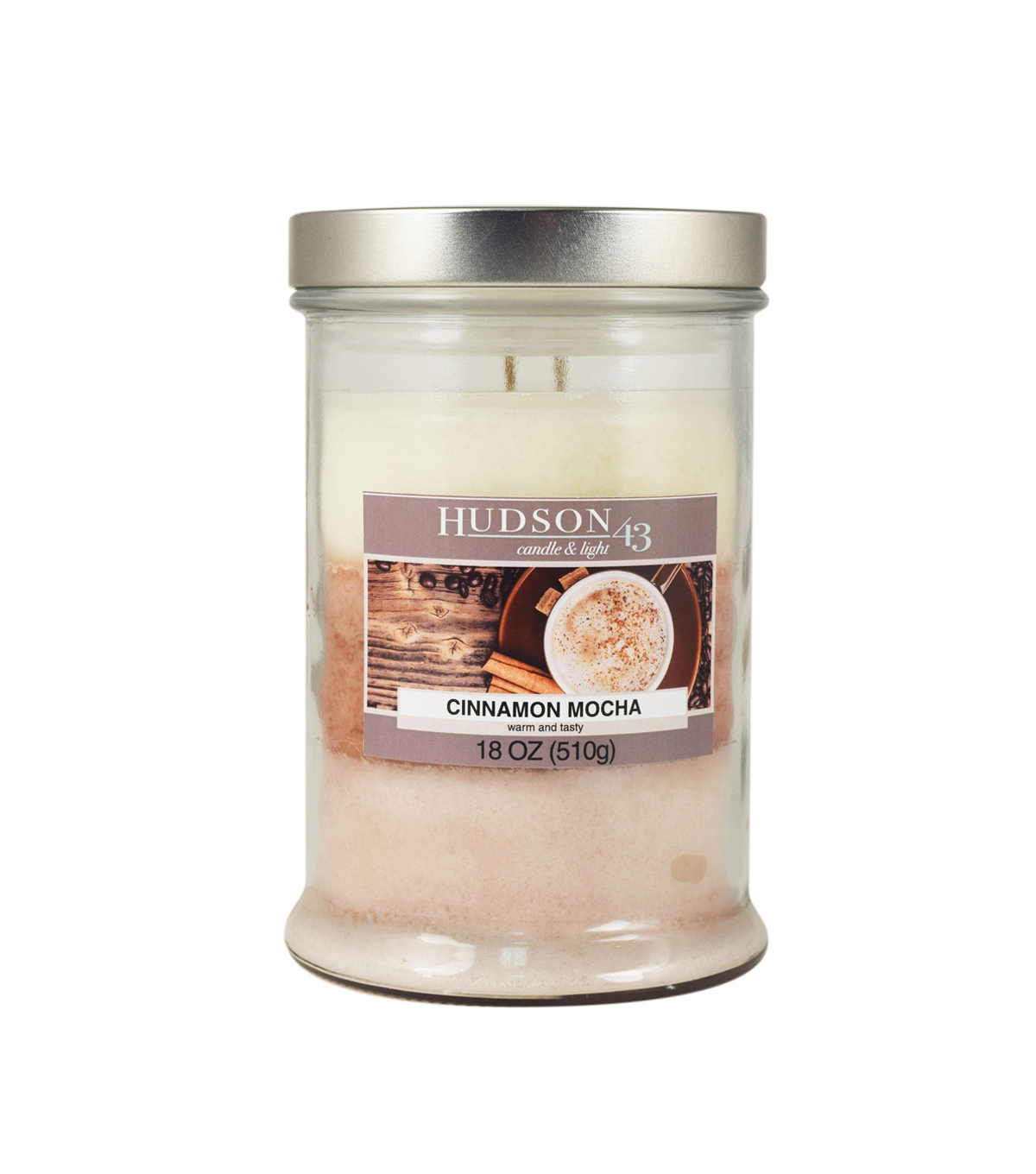 Hudson 43™ Candle & Light Collection 18oz Triple Pour Cafe Mocha Jar