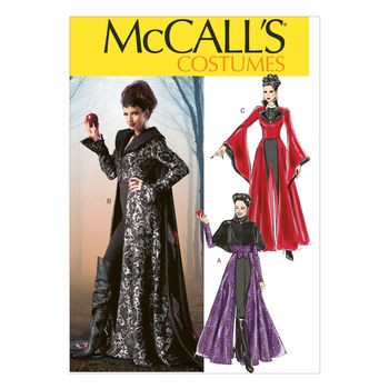 McCall\u0027s Pattern M6818-Floor-Length Coats, Capelet, Cape, Necklace and Dickey