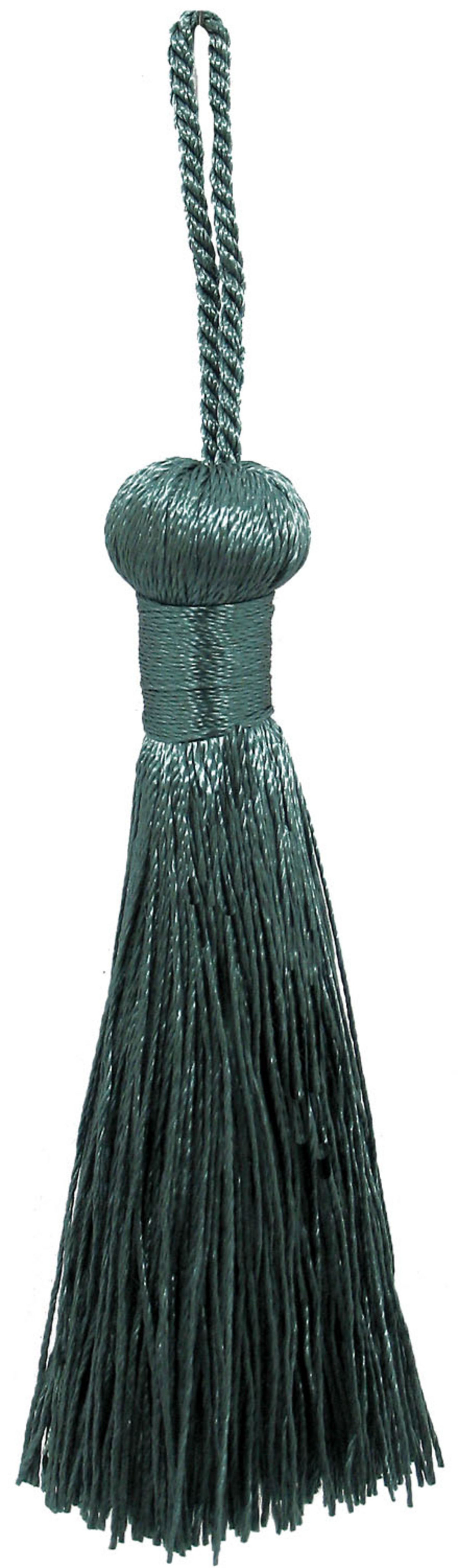 Ss 3in Peacock Rayon Bell Tassel