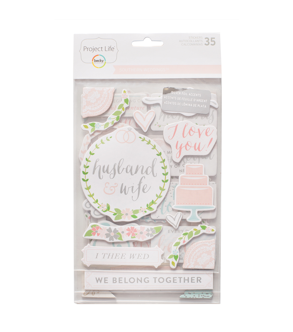 Becky Higgins Project Life 35 Pack Stickers-Southern Weddings