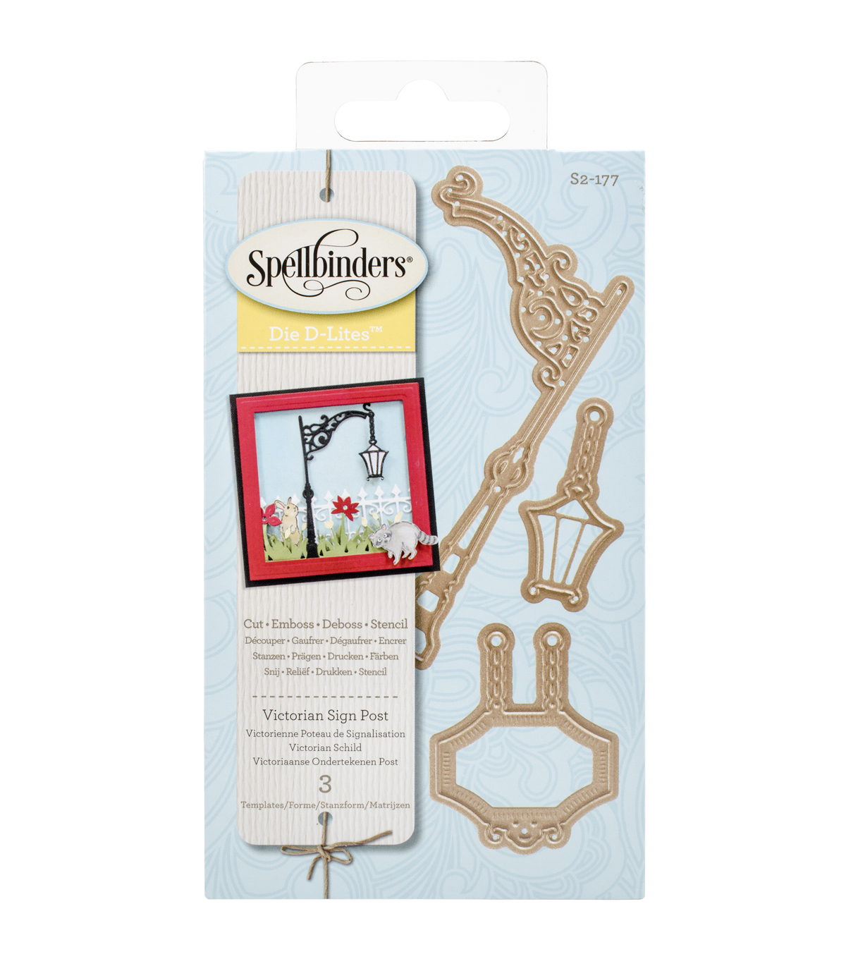 Spellbinders® Shapeabilities Die D-Lites-Victorian Sign Post