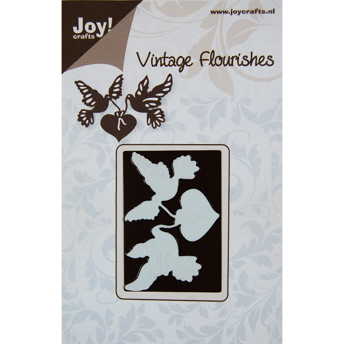 Joy! Crafts Vintage Flourishes Dies Doves And Hearts