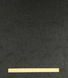 Suedecloth Fabric Collection-Floral Black Faux Leather