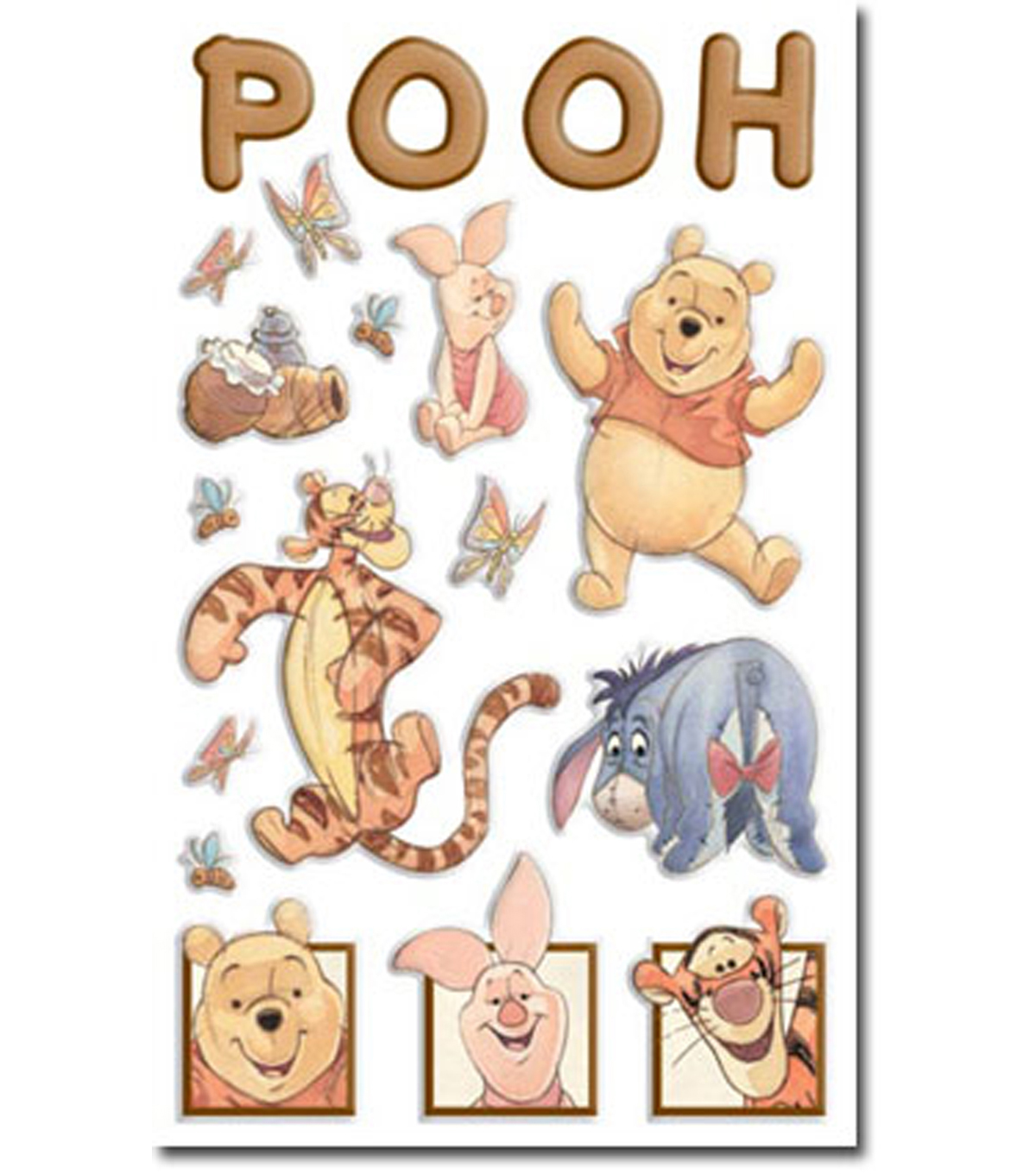Disney Winnie The Pooh Gems Stickers Packaged-Pooh