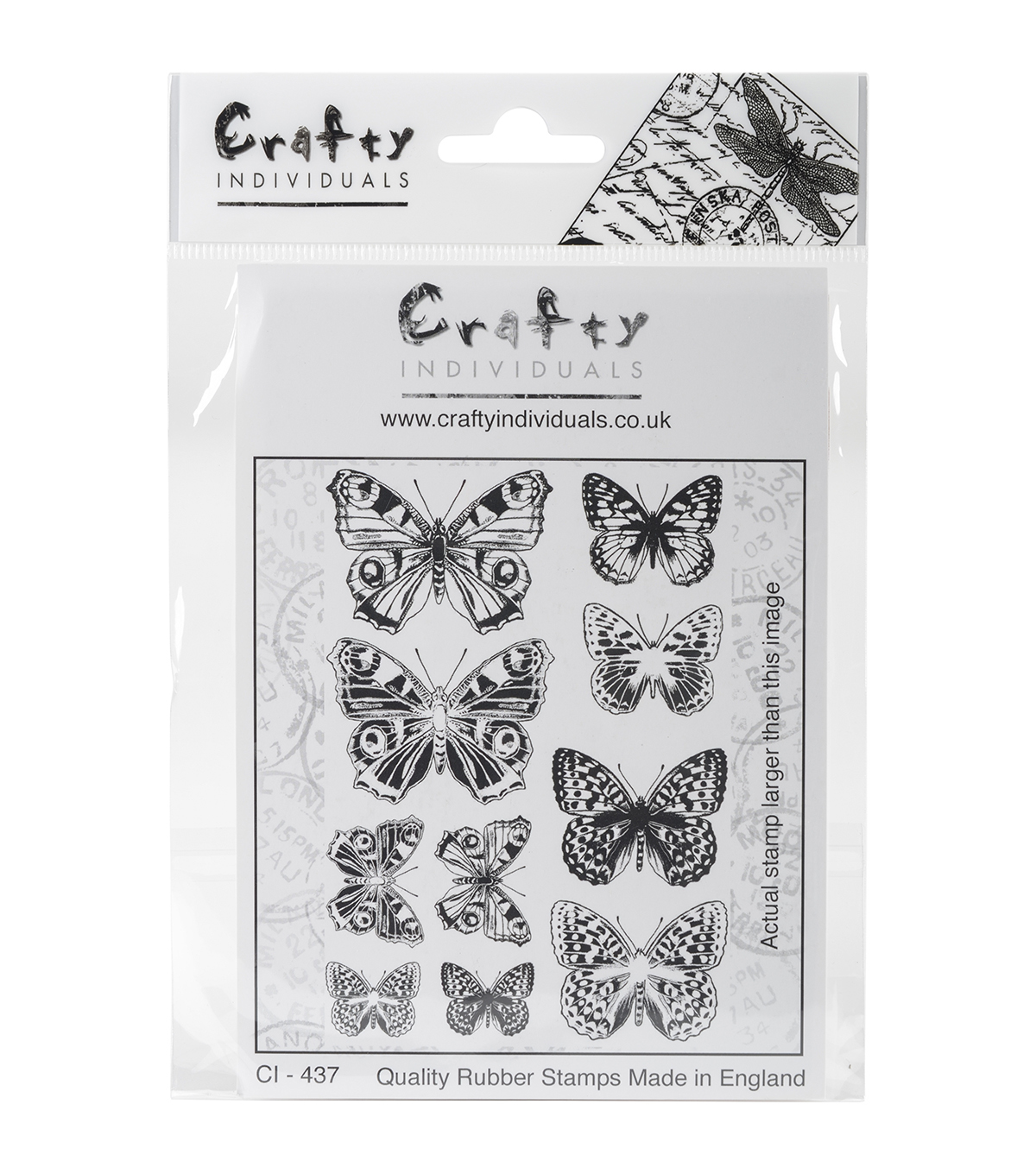 Crafty Individuals Unmounted Rubber Stamp-Butterfly Pairs