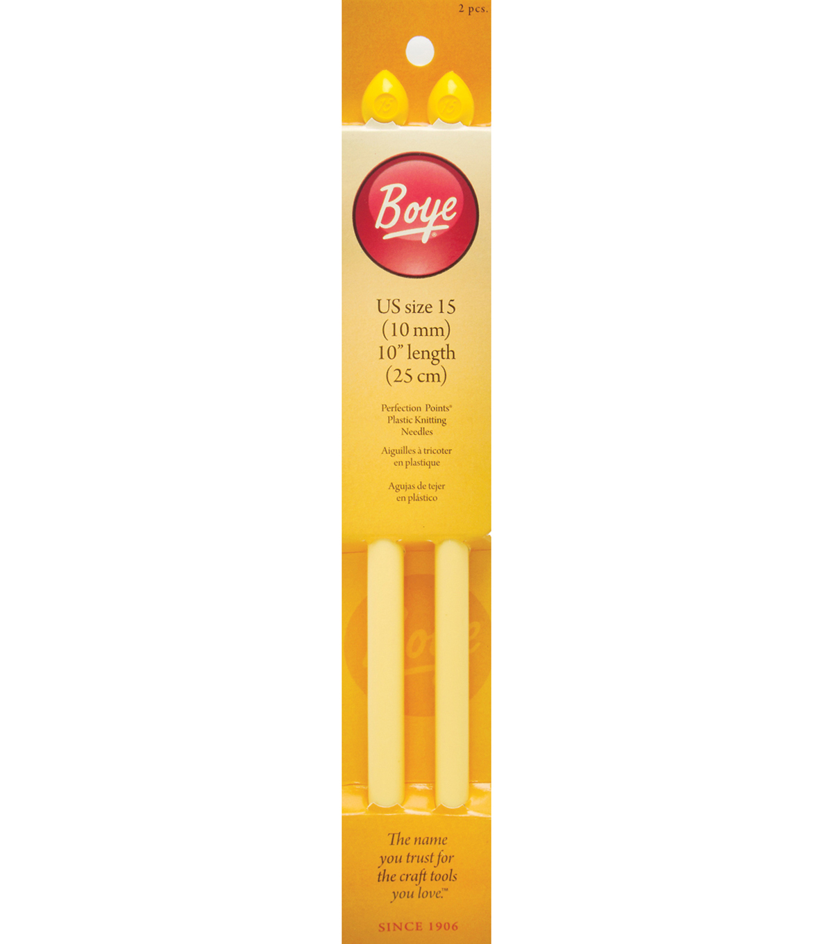 Boye® 2 pk Perfection Points Plastic Knitting Needles