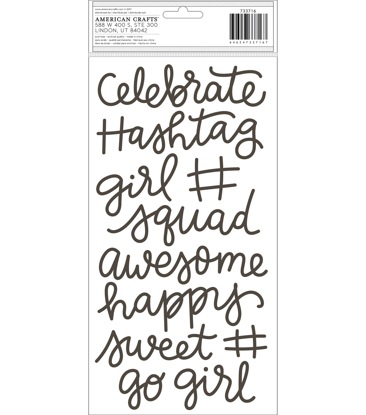 Girl Squad Thickers Stickers 5.5\u0022X11\u0022-Phrases/Foam