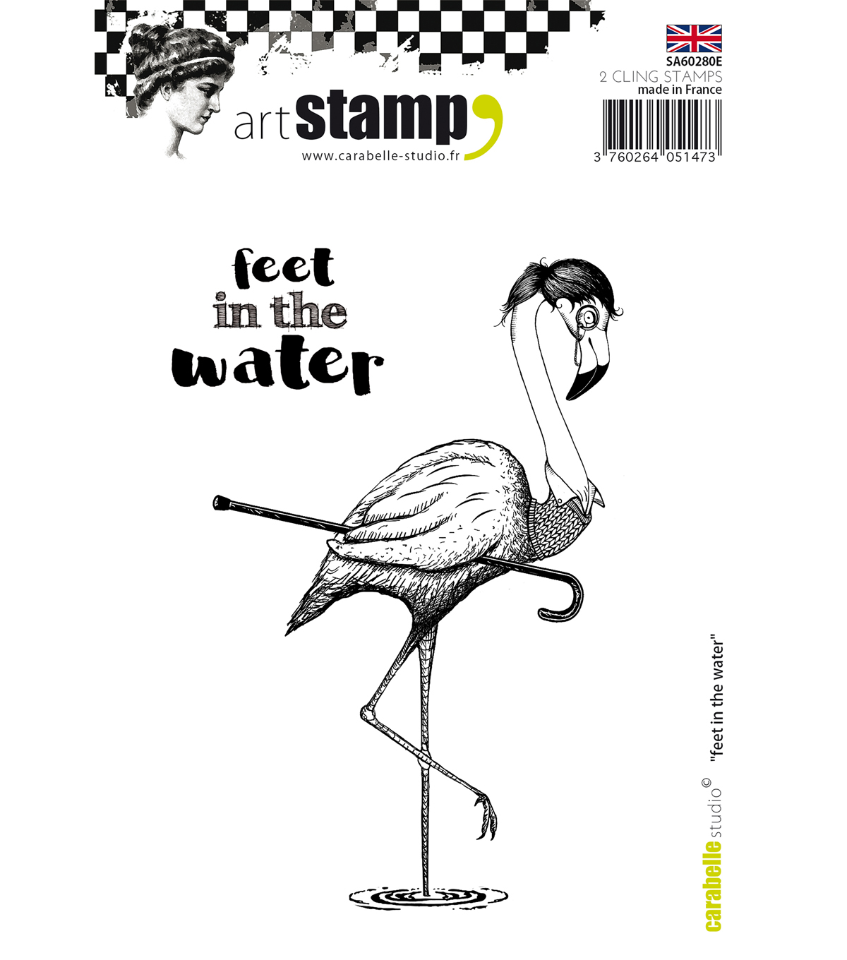 Carabelle Studio Cling Stamp A6-Feet In The Water