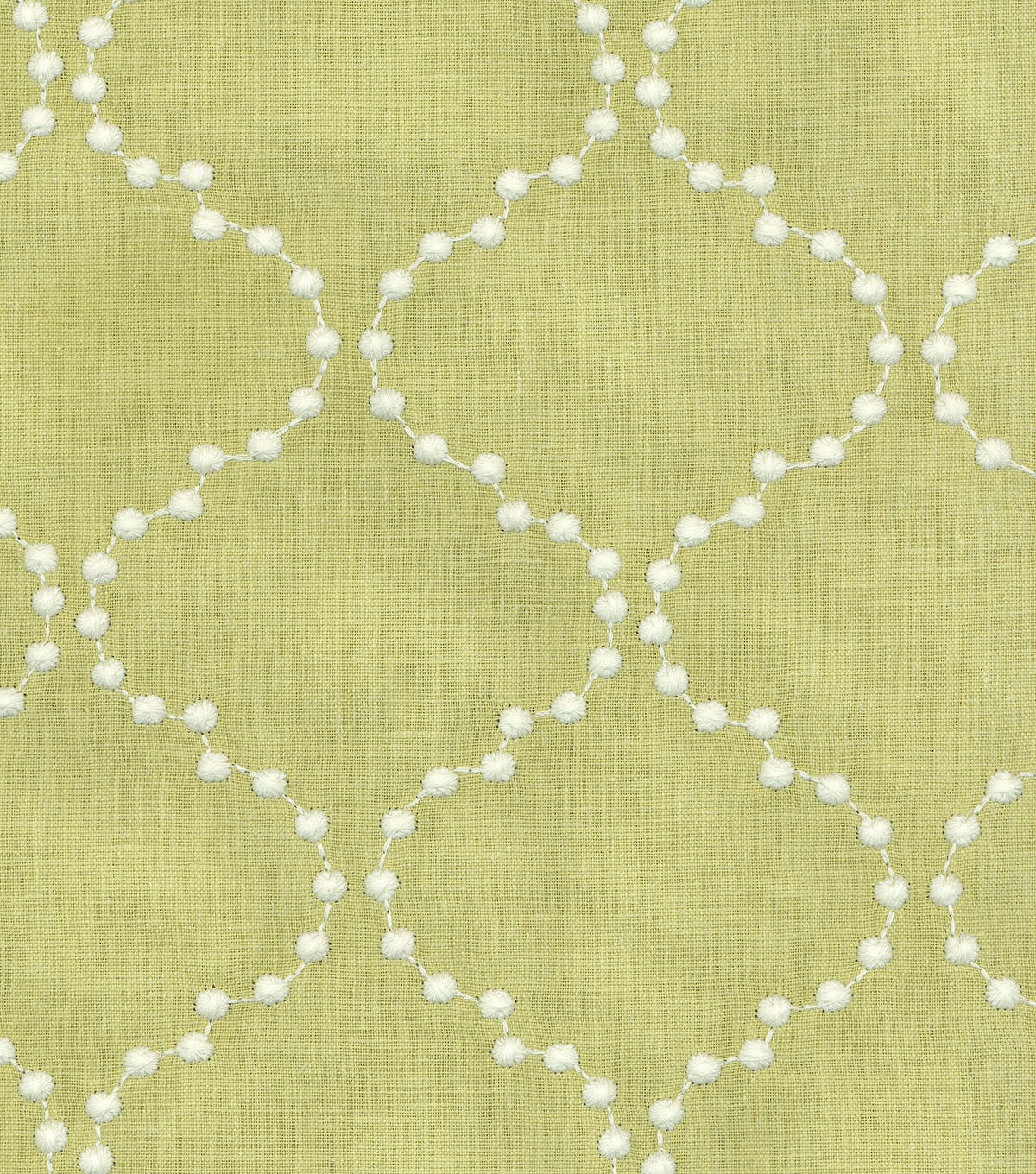 "HGTV Home Upholstery Fabric 55""-Pearl Drop Emb/Celery"