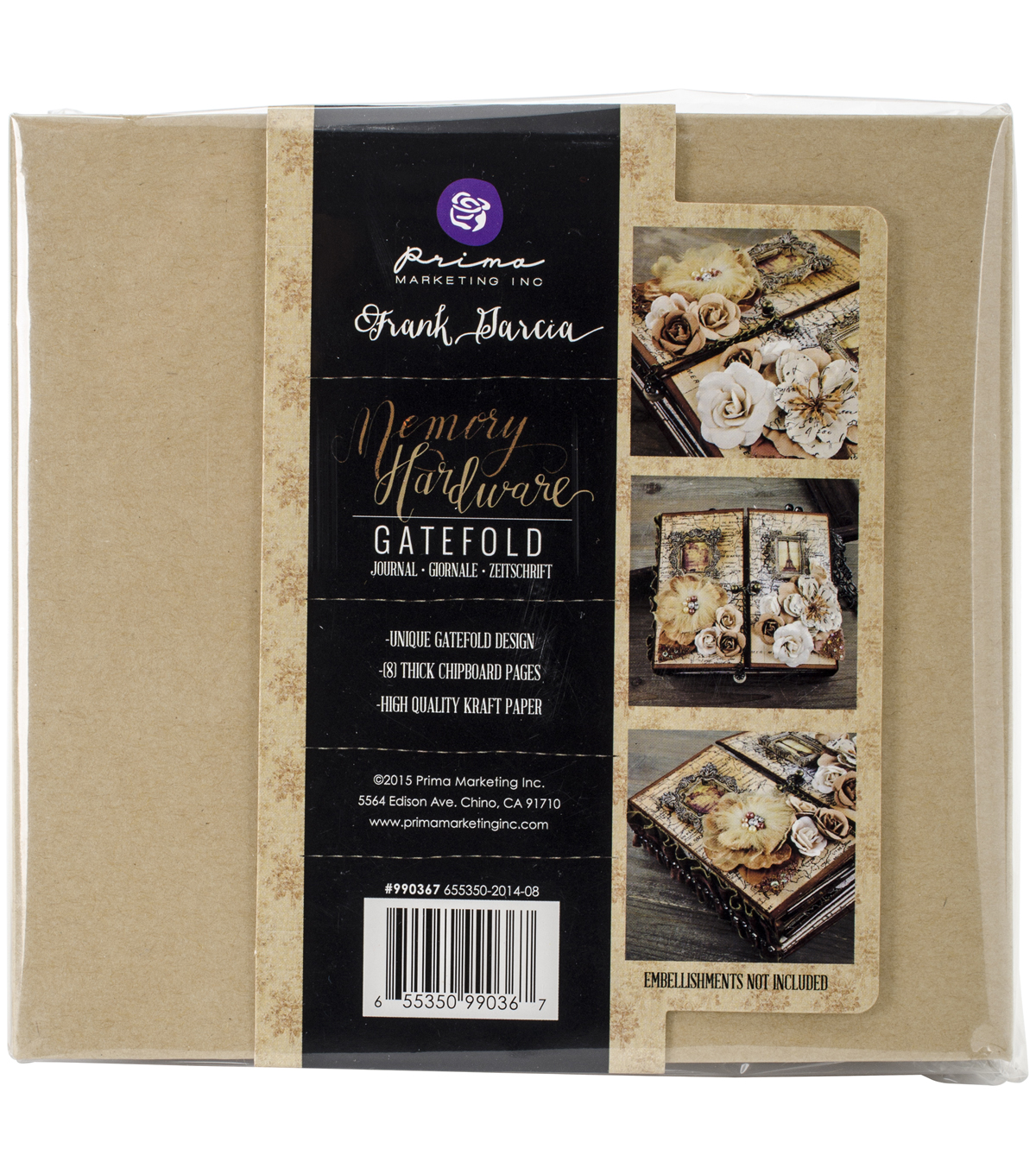 Prima Marketing Memory Hardware Gatefold Chipboard Journal