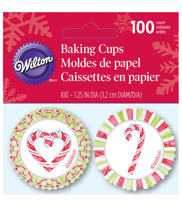 Wilton® Pack of 100 Baking Cups-Watercolor Candycane