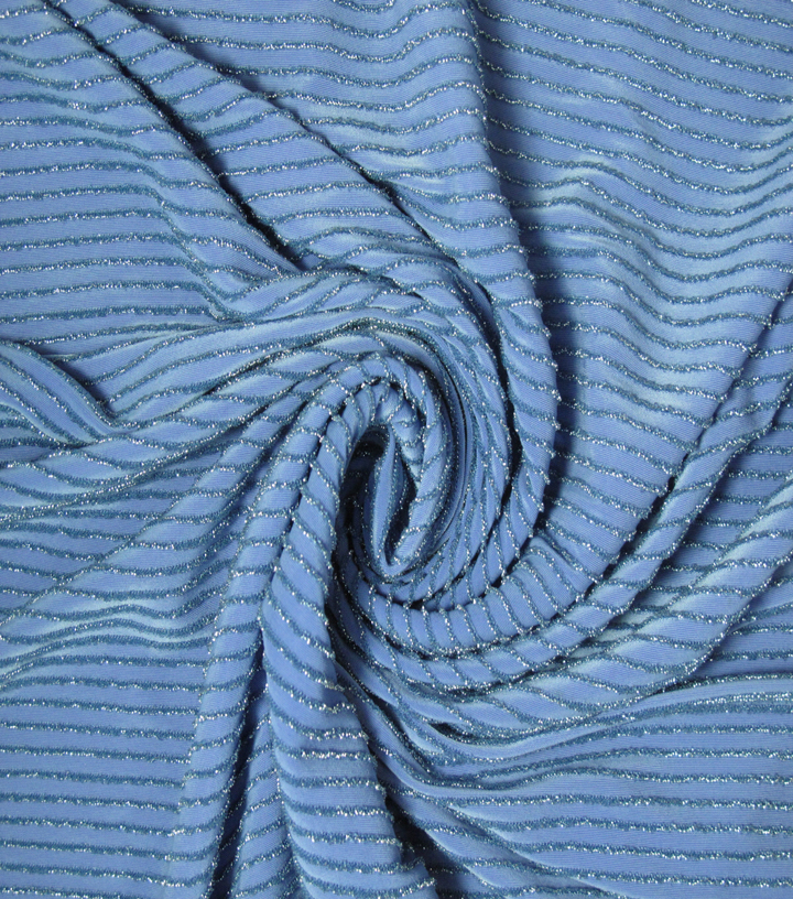 Nicole Miller Metallic Knit Fabric 58\u0022-Grapemist
