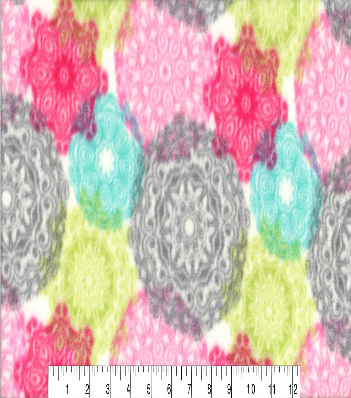 Anti-Pill Fleece Fabric 59\u0022-Spring Medallions