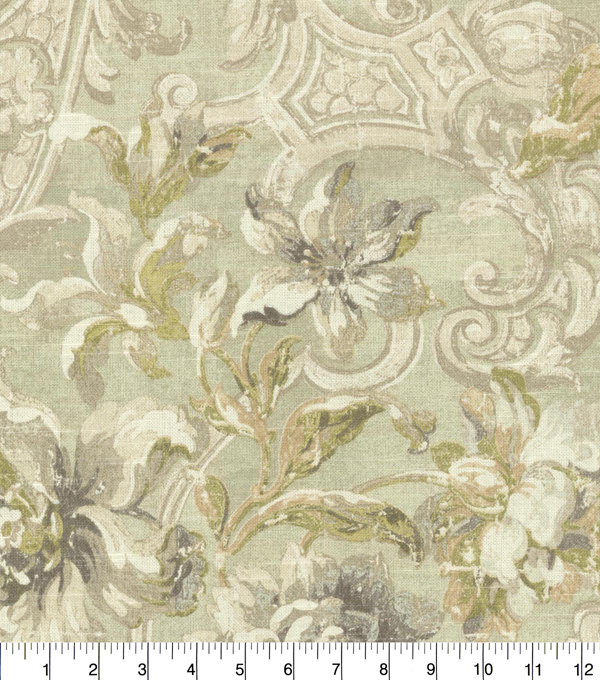 Waverly Upholstery Fabric 54\u0027\u0027-Silver Fresco Flourish