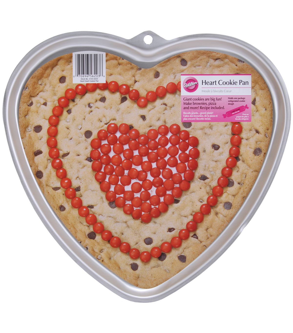 Wilton® Giant Cookie Pan-Heart 11.5\u0022X10.5\u0022X.75\u0022